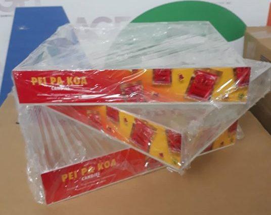 Customized Acrylic Box with Sticker